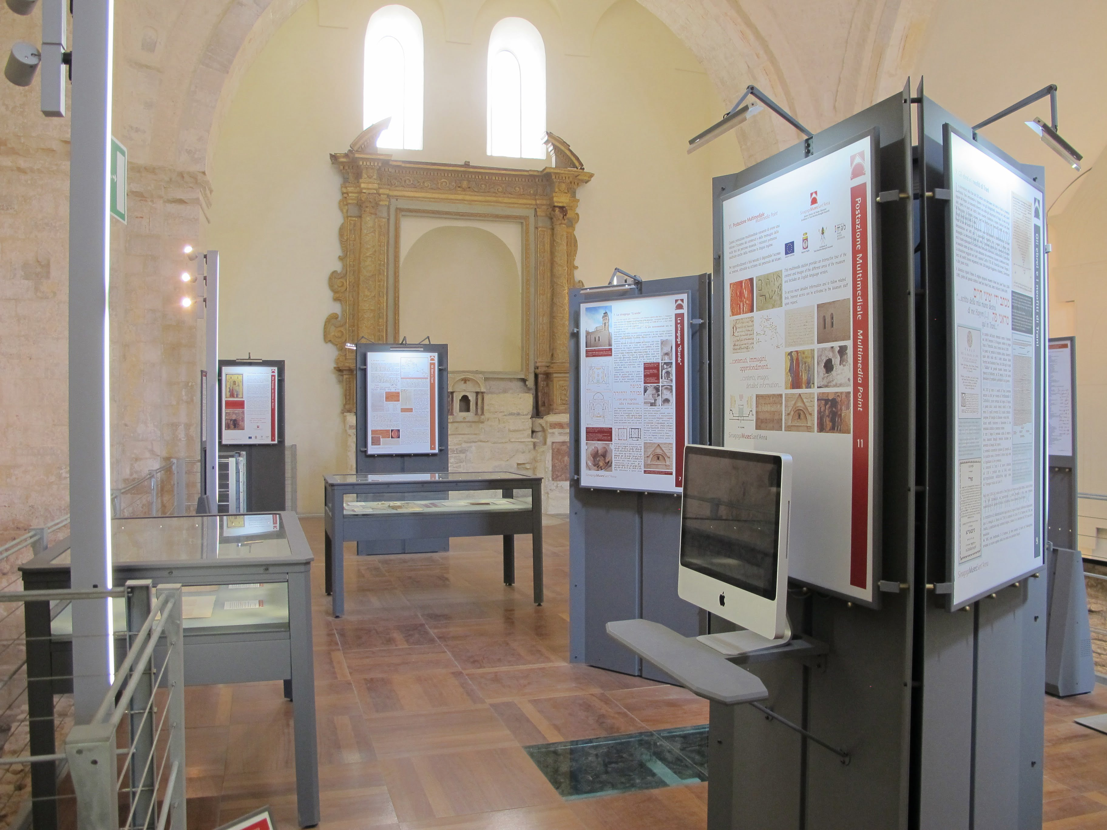 General view of the Jewish section of the Trani Diocesan museum. Photo (c) Ruth Ellen Gruber