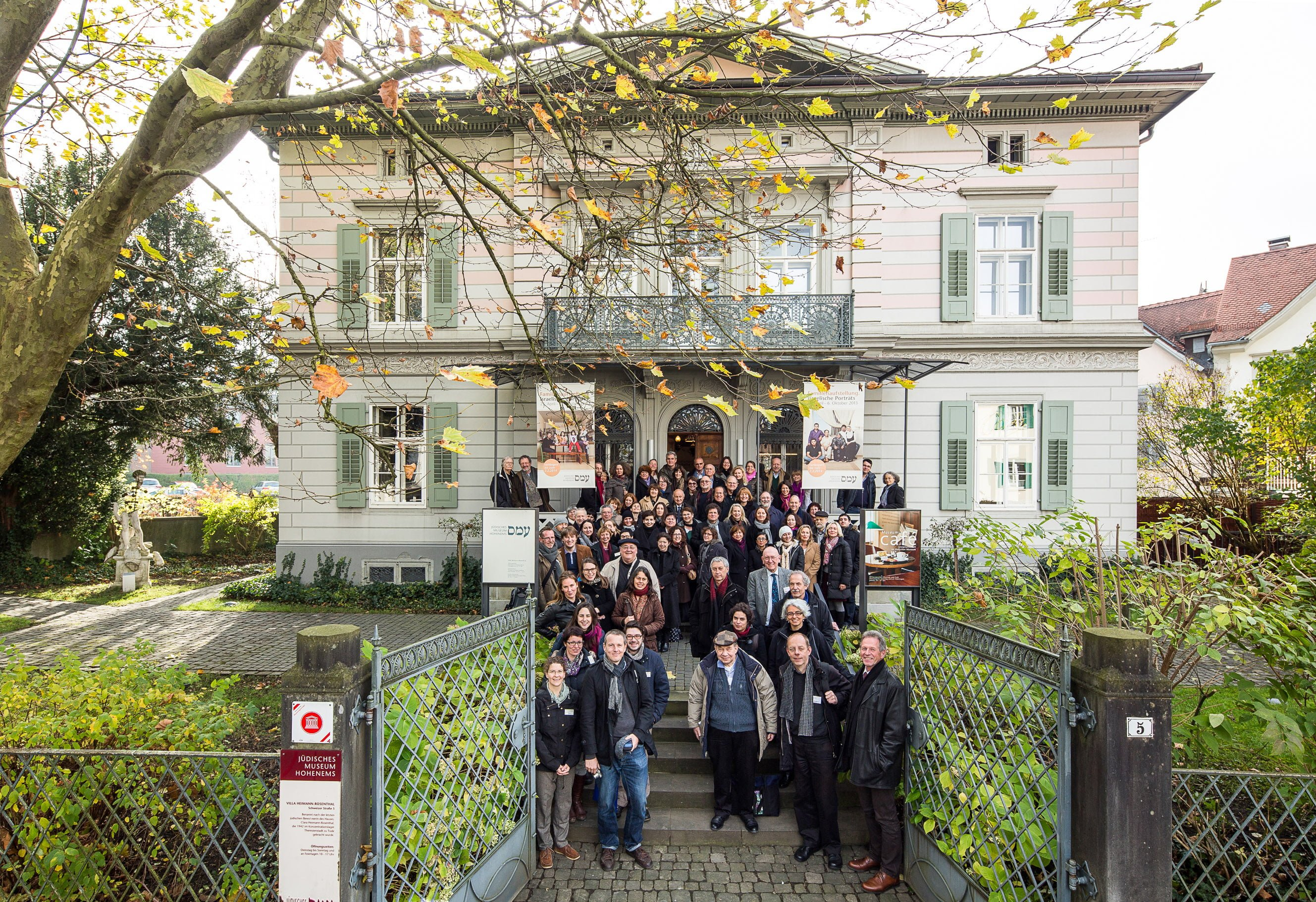 Conference participants outside the Jewish Museum in Hohenems. Photo AEJM ©Dietmar Walser