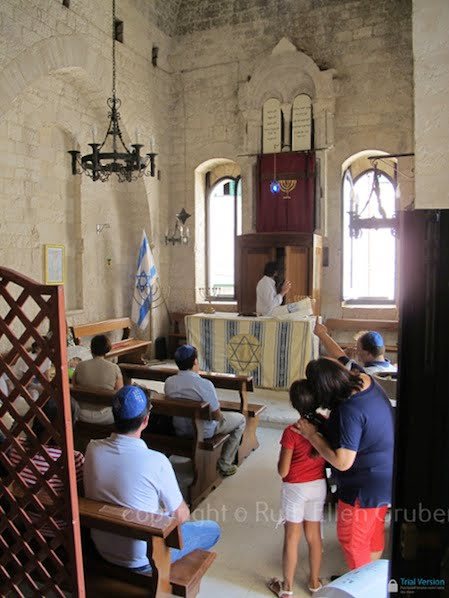 Interior of the Scolanova synagogue, Trani. Photo © Ruth Ellen Gruber