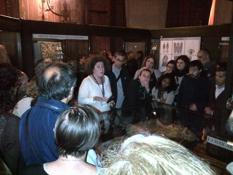Big crowd at Florence Jewish Museum. Photo: Renzo Funaro/Firenze Ebraica