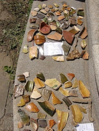 Shards found during the excavations at Krakow's Old Synagogue. Photo courtesy of the Krakow City Historical Museum