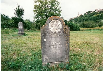 Stanjel, Slovenia. Grave of Jewish soldier Dezso Steiner in otherwise cleared WW1 military cemetery