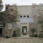 Kerepesi Jewish cemetery. Ceremonial hall, designed by Béla Lajta