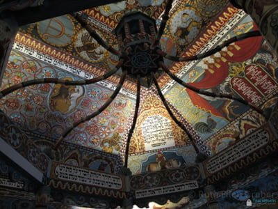 POLIN: Gwozdziec ceiling reconstruction Photo © Ruth Ellen Gruber