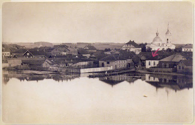 Ludza Great Synagogue, Early 20th century. Photo courtesy Jews in Latvia Museum