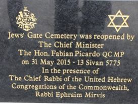 Photo: Rabbi Mirvis Facebook page