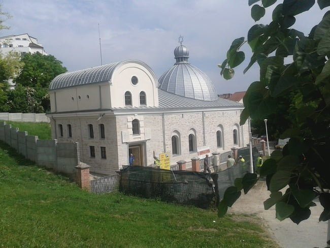 General view of the restored exterior of the Great synagogue in Iaşi, Romania. Photo: FEDROM