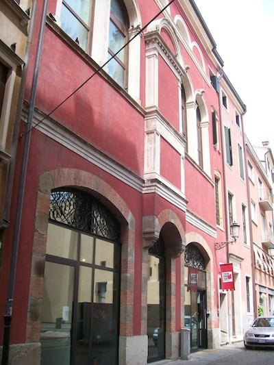 Exterior of the former Sinagoga Tedesca in Padova, which will house the new Jewish Museum.Photo: Wikimedia