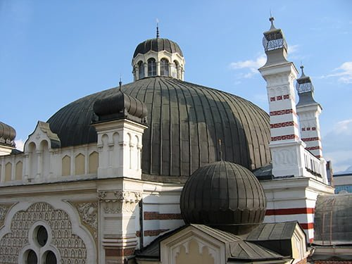 Great dome of the Sofia synagogue. Photo © Ruth Ellen Gruber