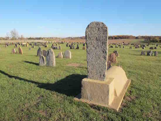 General view, restored Jewish cemetery
