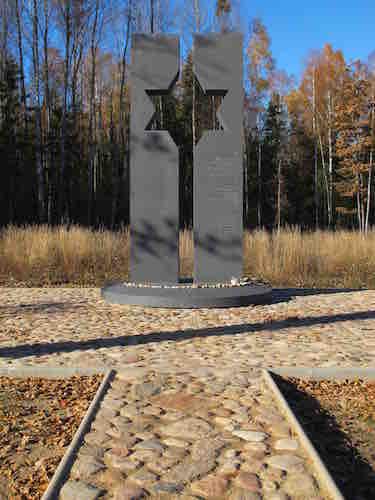 One of the mass grave site memorials. Photo © Ruth Ellen Gruber