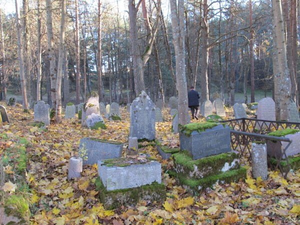 At the Jewish cemetery in Svencionys, Lithuania