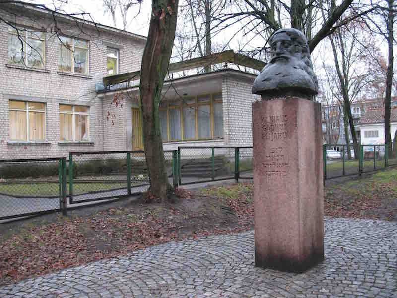 Monument to the Gaon of Vilna in Vilnius, at the site of the destroyed Great Synagogue