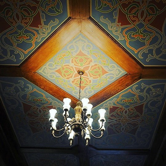 In the Small Synagogue in Wrocław, revealed and renovated ceiling paintings. Photo: Bente Kahan Foundation