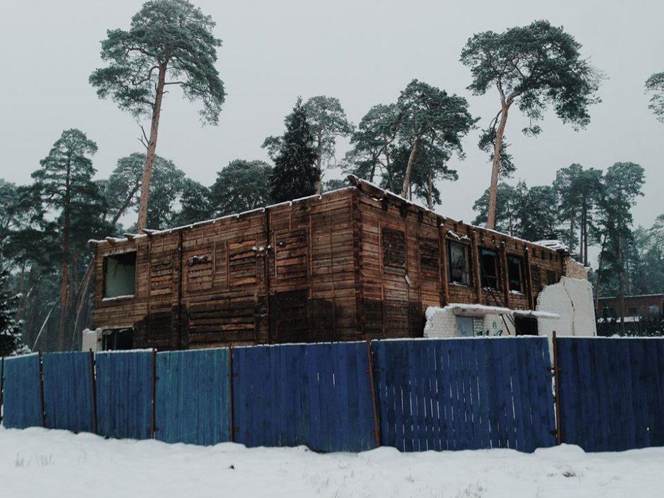 Wooden synagogue revealed during building demolition. Photo: Facebook/Cultural Heritage Department