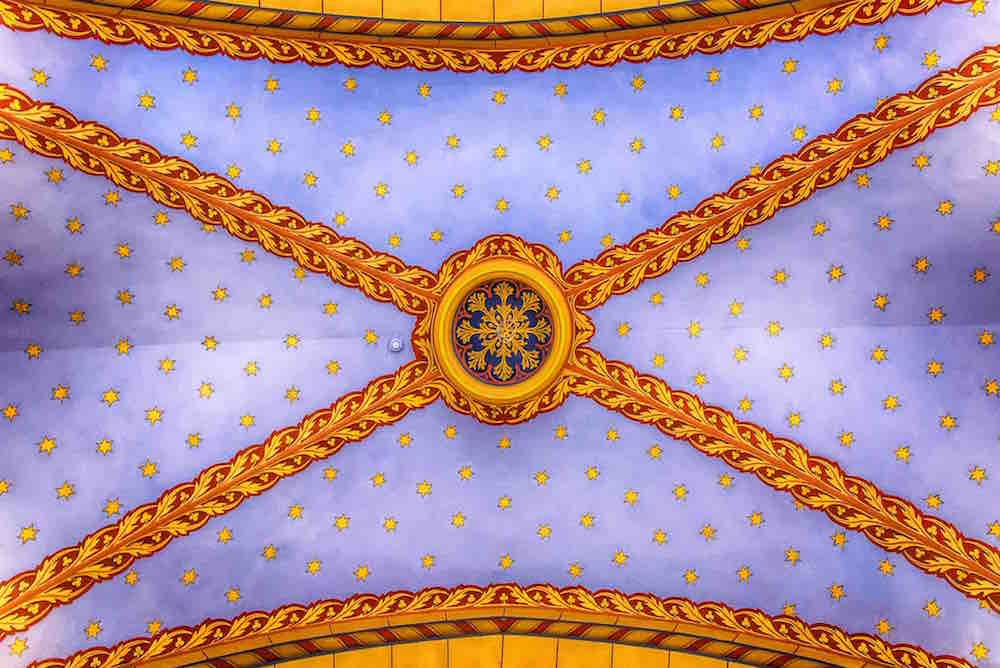 Ceiling of the restored Ceremonial Hall, site of the new Upper Silesian Jews House of Remembrance museum. Photo: Gliwice City Museum