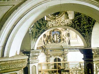 Slonim synagogue interior, 1990. Photo: World Monuments Fund