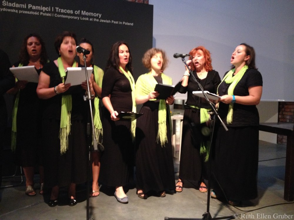 The Krakow Jewish Community choir performs during the Preserving Memory awards ceremony
