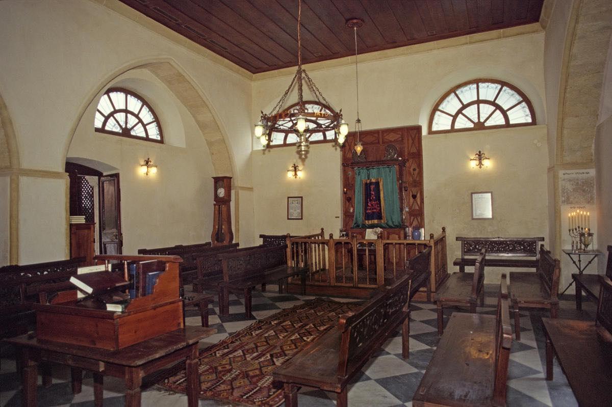 Interior of the Etz Hayyim Synagogue, Chania, Crete. Photo: World Monuments Fund