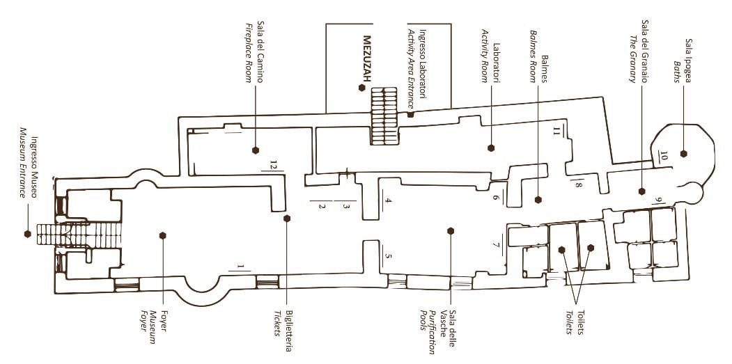 Map of new Jewish museum in Lecce, Italy