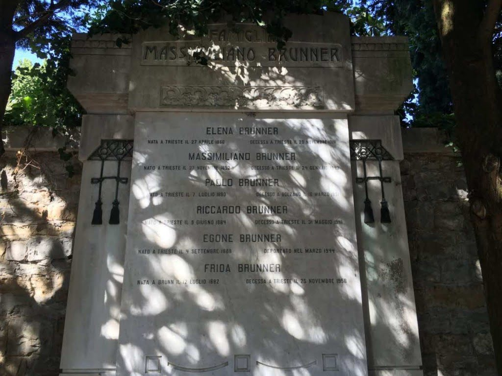Grave of the Massimiliano Brunner family, Trieste. Photo: Hanno Loewy