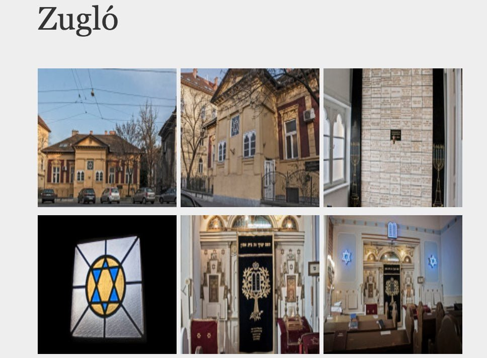 Screengrab of Zugló synagogue, showing how it looked before the fire, from zsinagogak.hu