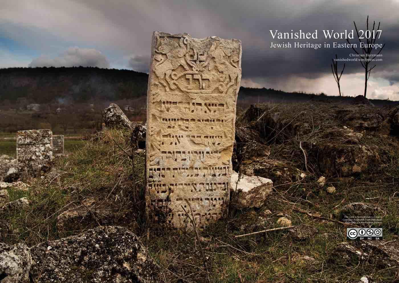 Cover of Christian Herrmann's 2017 calendar shows the Jewish cemetery in Vadul Rascov, Moldova