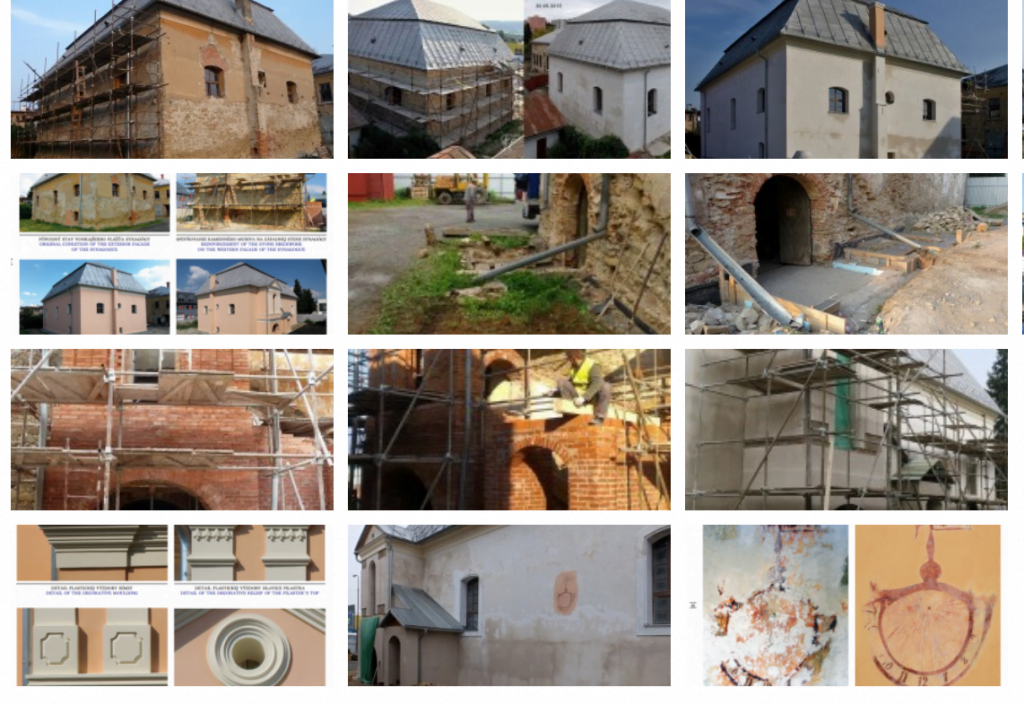 Montage of photos documenting the restoration, screen grab from the project web site