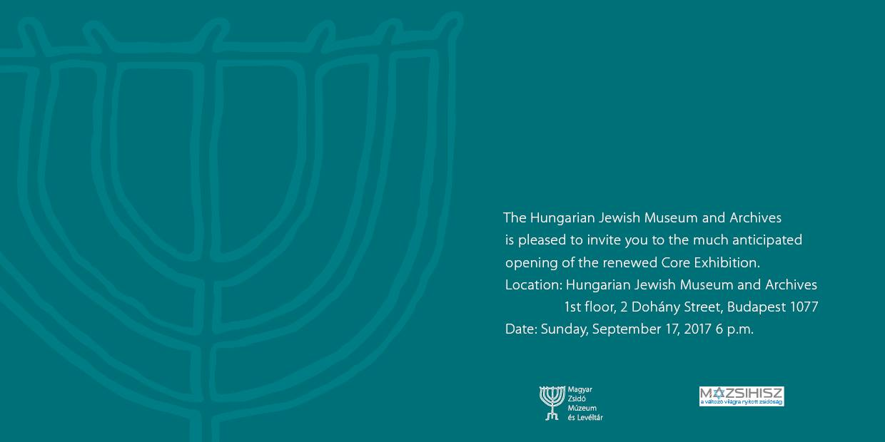 Opening of new core exhibit @ Hungarian Jewish Museum and Archives | Budapest | Hungary