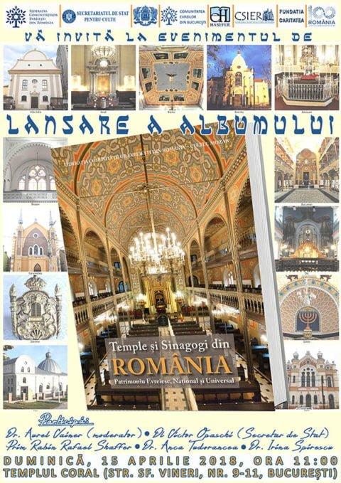 Launch of book on Romanian synagogues @ Choral Synagogue, Bucharest | București | Municipiul București | Romania
