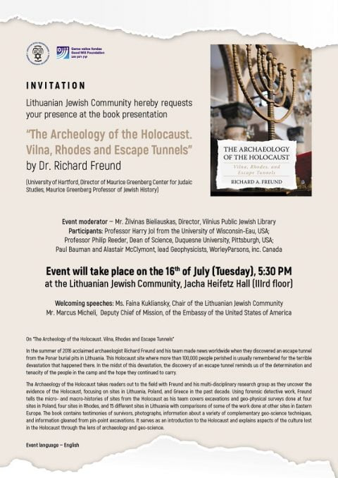 Archaeology of the Holocaust @ Jewish community Vilnius | Vilnius | Vilniaus apskritis | Lithuania