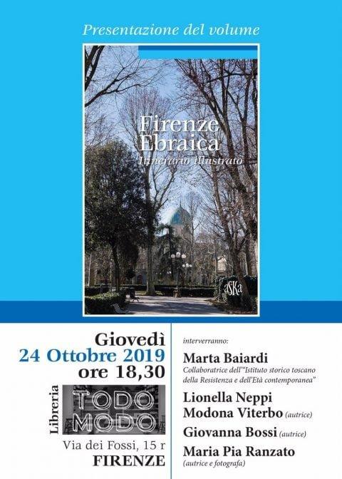 Firenze Ebraica book presentation @ Florence Todo Modo | Firenze | Toscana | Italy