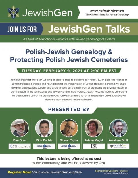 Polish-Jewish genealogy and cemetery protection @ Bentonville | Arkansas | United States