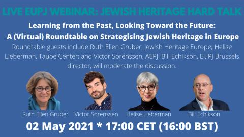 EUPJ Webinar: Jewish Heritage Hard Talk @ Online Zoom event