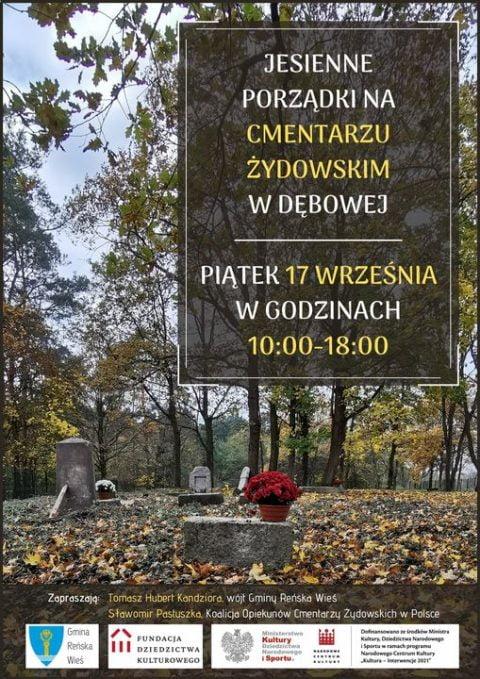 Jewish cemetery cleanup @ Jewish cemetery in Dębowa | Reńska Wieś | Opole Voivodeship | Poland