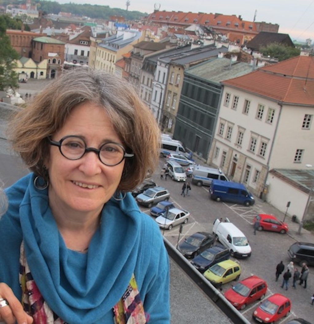 Ruth Ellen Gruber in Krakow's Jewish quarter, Kazimierz. Photo © Chuck Fishman