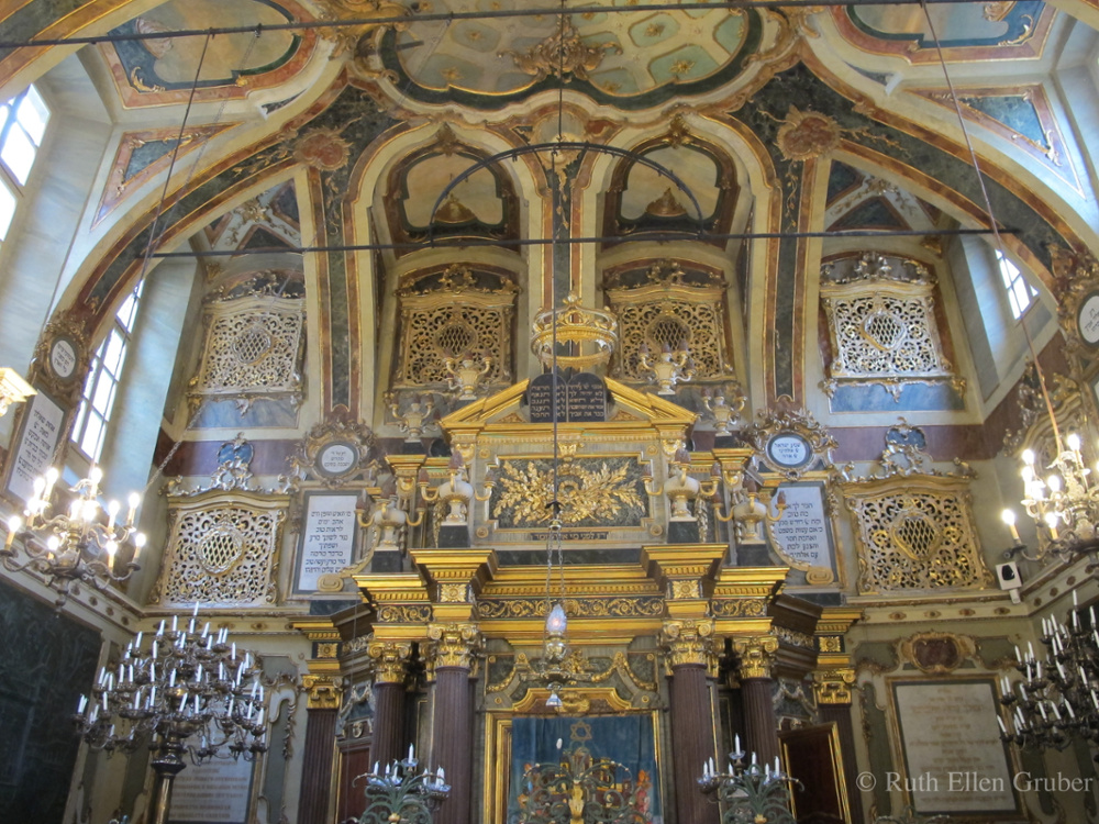 The ark in the synagogue in Casale Monferrato, Italy