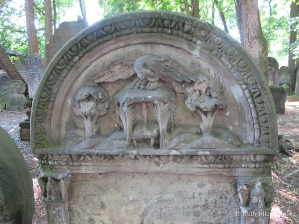 Gravestone in Warsaw's Okopowa st Jewish cemetery