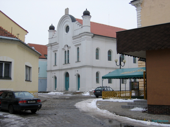 Exterior, restored synagogue in Břeclav, Czech Republic. Now municipal museum with Jewish exhibit