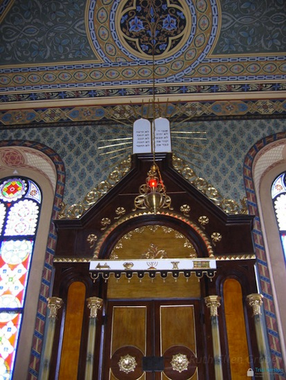 Interior, restored synagogue in Heřmanův Mestec, Czech Republic