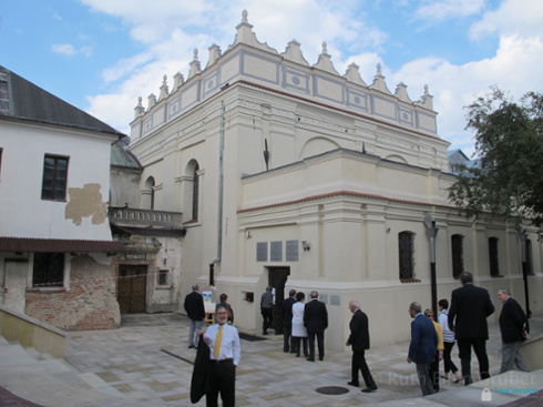 Restored synagogue in Zamosc, Poland