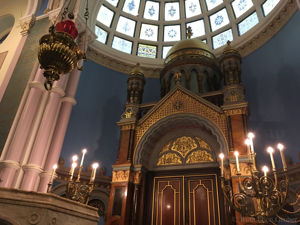 Inside the Garnethill synagogue, Glasgow, Scotland